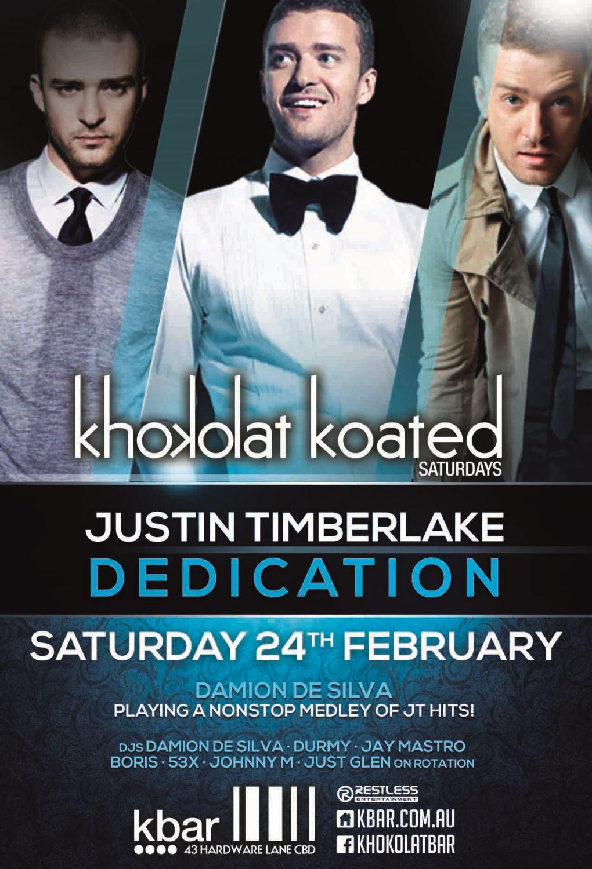 Khokolat Koated – Justin Timberlake Dedication