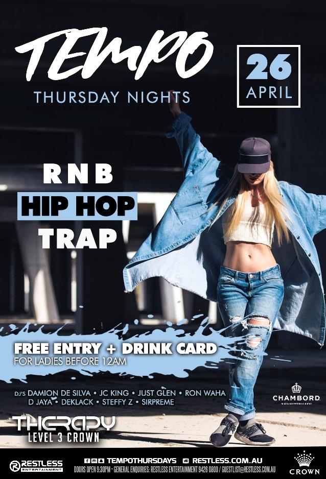 TEMPO Thursdays – 26th APRIL